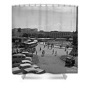 Havana Bus Park Shower Curtain