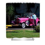 Havana Taxi Shower Curtain by Tom Singleton
