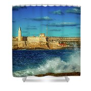 Havana's Morro Castle Shower Curtain