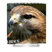 Hawks Mascot 2 Shower Curtain