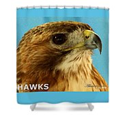 Hawks Mascot 3 Shower Curtain