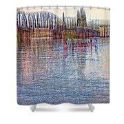Hawthorn Bridge Shower Curtain