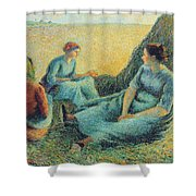 Haymakers Resting, 1891 Shower Curtain