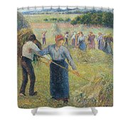 Haymaking At Eragny, 1891 Shower Curtain