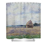 Haystack- Eragny, 1895 Shower Curtain