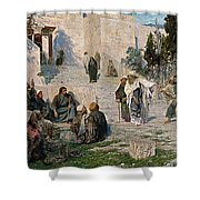 He That Is Without Sin, 1908 Shower Curtain