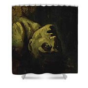 Head Of A Drowned Man Shower Curtain