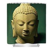 Head Of The Buddha, Sarnath Shower Curtain