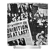 Headline Declaring The End Of Prohibition, 6th December, 1933 Shower Curtain