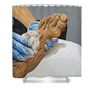 Healing Hands Shower Curtain by Kevin Daly