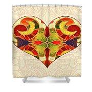 Heart Illustration - Creating Passionate Experience - Omaste Witkowski Shower Curtain by Omaste Witkowski