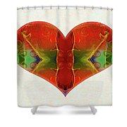 Heart Painting - Vibrant Dreams - Omaste Witkowski Shower Curtain by Omaste Witkowski