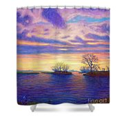 Hearts And Voices Shower Curtain