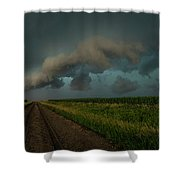 Heather's Birthday Storm Shower Curtain