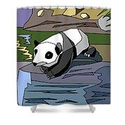 Heathers Panda V2 Shower Curtain