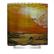 Heavenly Protection Shower Curtain