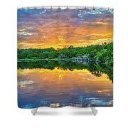 Heavenly Reflections In The Hill Country Shower Curtain