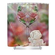Heavenly Valentine Shower Curtain