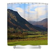Helm Crag And Wythburn Fells Above Grasmere In The Lake District Shower Curtain