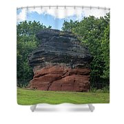 Hemlock Stone Shower Curtain