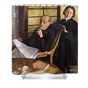 Henri Degas And His Niece Lucie Degas Shower Curtain