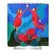 Henry And Clara Ford Shower Curtain