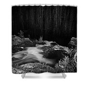 Hepokongas Waterfall Bw Shower Curtain