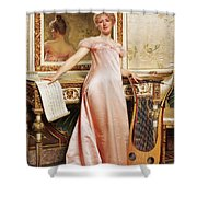 Her Music Lesson Shower Curtain