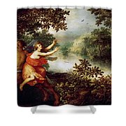 Hercules  Dejaneira  And The Centaur Nessus  Shower Curtain