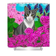 Hercules In The Garden Shower Curtain
