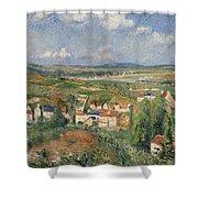 Hermitage In Summer, Pontoise, 1877 Shower Curtain