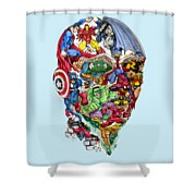 Heroic Mind Shower Curtain