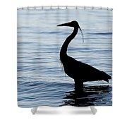 Heron In Silhouette Shower Curtain by Sue Harper