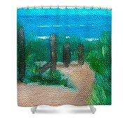Hidden Beach Shower Curtain