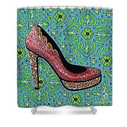 High Heel Party Shower Curtain