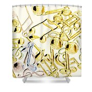 High Key Harmony Shower Curtain