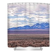 High Plains And Majestic Mountains Shower Curtain