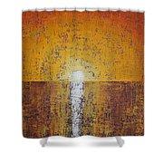 Hilton Head Sunrise Original Painting Shower Curtain