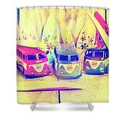Hippie Holidays Shower Curtain