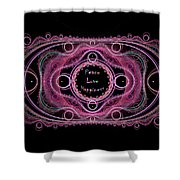 Hippie Lace - Peace, Love, Happiness Shower Curtain