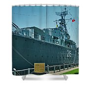 Hmcs Haida Shower Curtain by Meta Gatschenberger