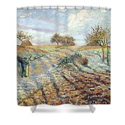 Hoarfrost At Ennery, 1873 Shower Curtain