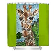 Hobbes Giraffe Shower Curtain