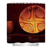 Hohokam Pottery At Pueblo Grande Shower Curtain