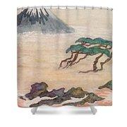 Hoitsu Through The Eyes Of Modernity Turned Backward Shower Curtain