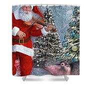 Holiday Hippo Dancing Cheer Shower Curtain