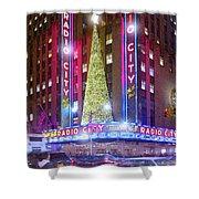 Holiday Season At Radio City Music Hall  Shower Curtain