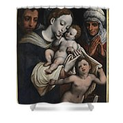 Holy Family With Elisabeth And John The Baptist  Shower Curtain