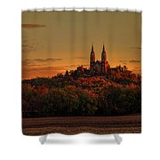 Holy Hill Sunrise Panorama Shower Curtain