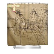 Holy Trinity And Our Lady Asia Shower Curtain